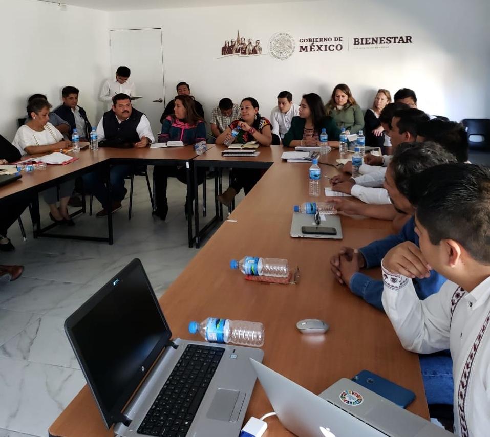 Presentación a Secretaría del Bienestar del estudio de investigación socio-antropológico de Santos Reyes Yucuná